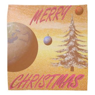 world merry christmas bandana