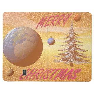 world merry christmas journal