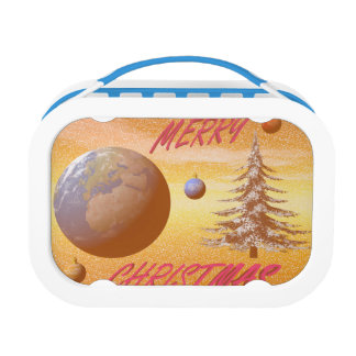 world merry christmas lunch box