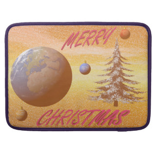 world merry christmas sleeves for MacBook pro