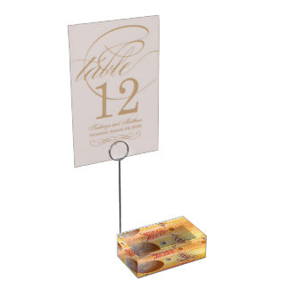 world merry christmas table card holder