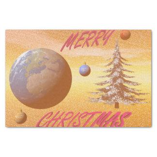 world merry christmas tissue paper