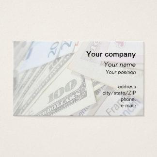 """""""World money"""" business card"""