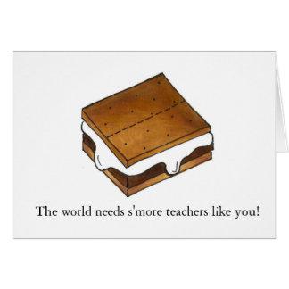 World Needs S'more Teachers Smores Teacher Card