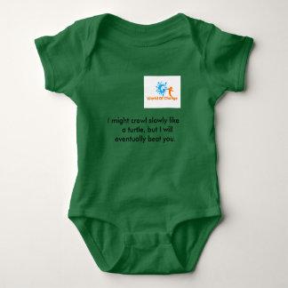 "World Of Change T-shirt"" Cute Turtle"" Baby Bodysuit"