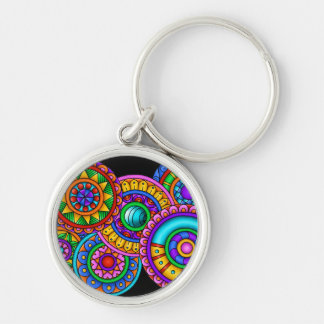 World Of Color Silver-Colored Round Key Ring
