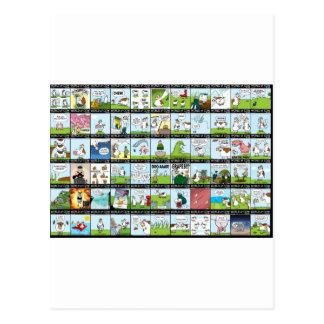 World of Cow Wallpaper Postcard