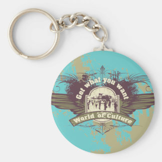 World of Culture Tshirts and Gifts Basic Round Button Key Ring