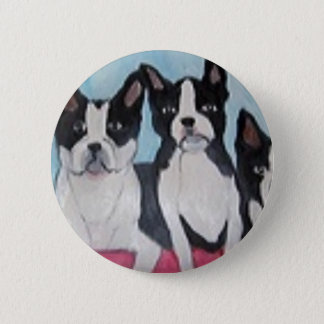 world of eric dogs land 6 cm round badge