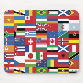 World of flags mouse pad