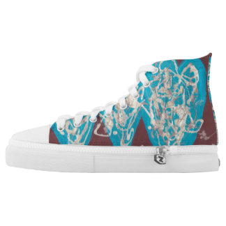 World of Love High Tops Printed Shoes