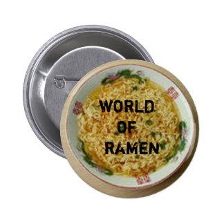 world of ramen pin: set-o-three 6 cm round badge