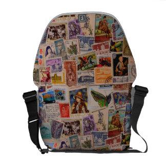 World of Stamps - messenger bag