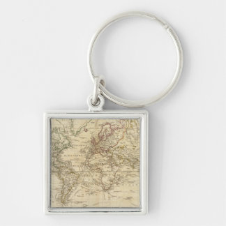 World on Mercator's projection Key Ring