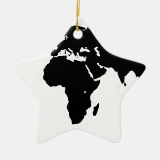 World Outline Ceramic Ornament