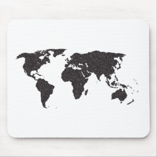 World Outline Dots Mouse Pad