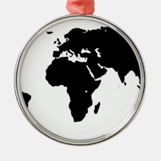 World Outline Metal Ornament