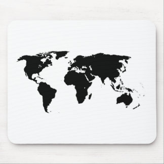 World Outline Mouse Pad