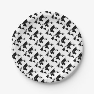 World Outline Paper Plate