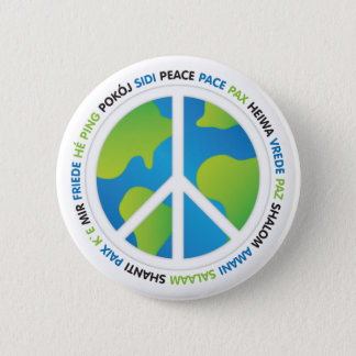 World Peace 6 Cm Round Badge