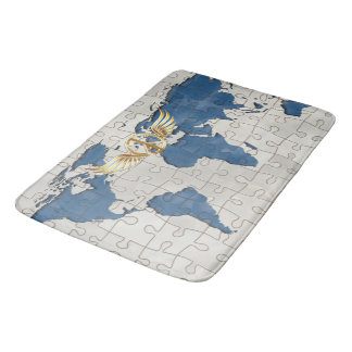 World peace bath mats