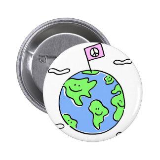 world peace cartoon illustration buttons