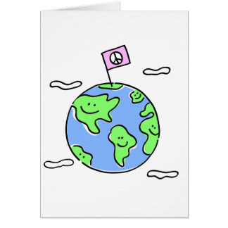 world peace cartoon illustration greeting card