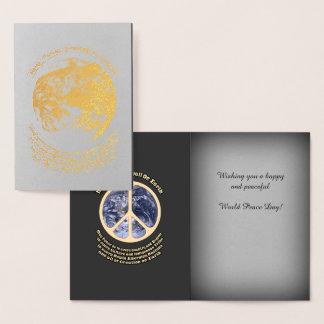 World Peace Day Foil Card