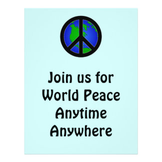 World Peace Personalized Flyer