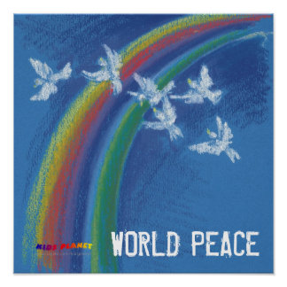World Peace | Flying white doves Poster