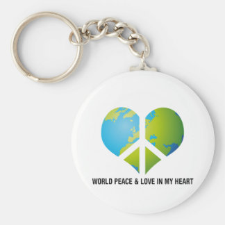World Peace & Love in my Heart Key Ring