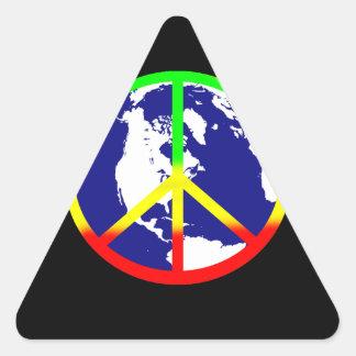 World Peace On Black Triangle Sticker