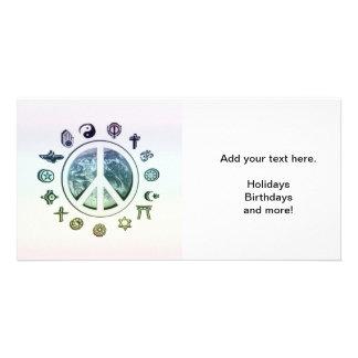 World Peace Photo Card Template