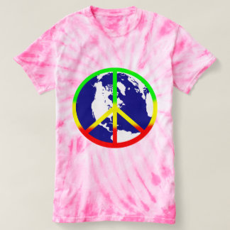 World Peace Pink Tie Dye Shirt
