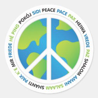World Peace Round Sticker