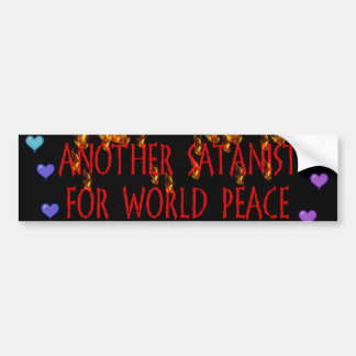 World Peace Satanist Bumper Sticker