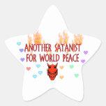 World Peace Satanist Sticker