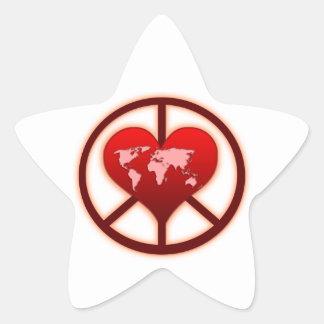 World Peace Star Sticker