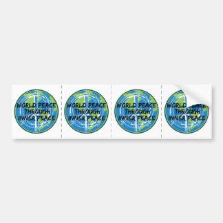 World Peace Through Inner Peace Bumper Sticker