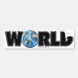 World Peace Too Bumper Sticker
