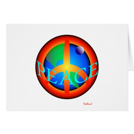 WORLD PEACE two Greeting Cards
