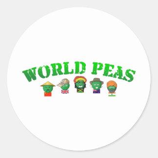 World Peas Round Sticker