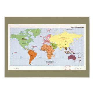World Political Regional Map (1985) Card