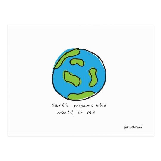 world postcard