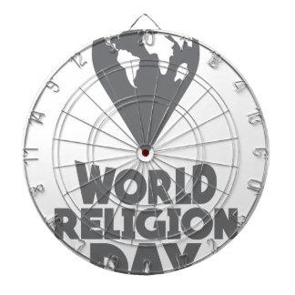 World Religion Day - Appreciation Day Dartboard With Darts