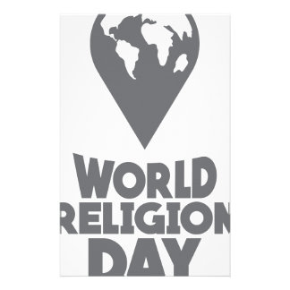 World Religion Day - Appreciation Day Stationery