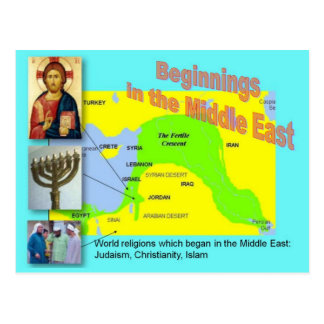 World Religions, Middle Eastern beginnings Postcard