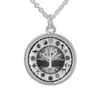 World Religions Tree of Life Sterling Silver Necklace