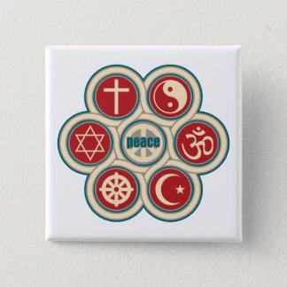 World Religious Peace 15 Cm Square Badge