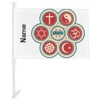 World Religious Peace Car Flag